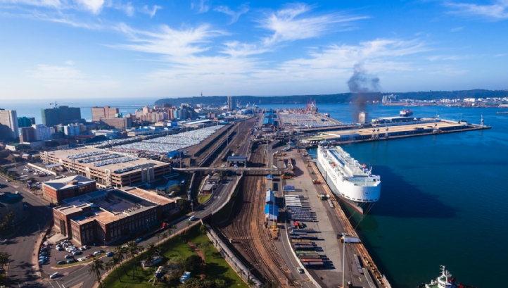 The Port of Durban, on the east coast of South Africa in KwaZulu-Natal province